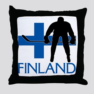 Finland Hockey Throw Pillow